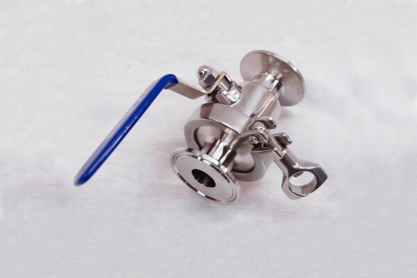 Easy clean ball valve tri clamp