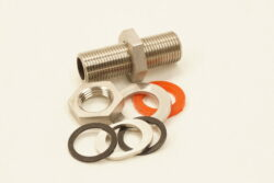"Stainless 1/2"" x 2.5"" Male NPT Continuous Bulk Head Kit"