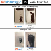 comparison of our brewery wash vs the leading brewery wash on the market